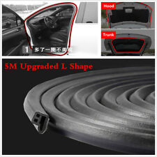 Upgraded 5M L Shape Car Door Hood Trunk Moulding Rubber Weatherstrip Seal Strip