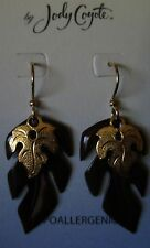 Jody Coyote Earrings JC0414 new truffle gold chocolate leaf brown QN054 dangle