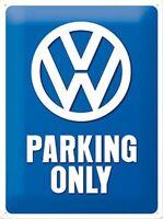 signe de métal en relief VW Parking Only (na 3020)