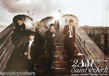 "2 AM ""SAINT O'CLOCK-FIRST TOUR"" PROMO POSTER - 2 PM,KOREAN BOY BAND, K-POP MUSIC"
