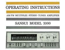 SANSUI HI-FI AMPLIFIER AND OTHER MANUALS ON CD-R