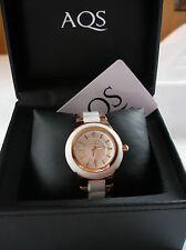 AQUASWISS- 18k Rose Gold & Stainless Steel  Ladies Ceramic Wristwatch