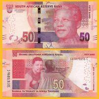South Africa 50 Rand p-145 2018 Commemorative Nelson Mandela UNC Banknote