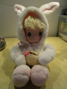 Vintage Applause Plush Girl In Bunny Costume From 1985 With Locket