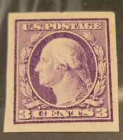 SCOTT #345 3 CENT WASHINGTON IMPERF MINT OG  - Lot 1