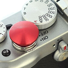 DSLRKIT Red Metal Soft Release Button for Leica Contax Fujifilm X100 size:L
