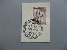 GERMANY BERLIN,  stamp on fragment CTO  FDC 1953, Gedächtniskirche 4 Pf