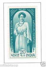 PHILA471 INDIA 1968 SINGLE MINT STAMP OF SISTER NIVEDITA MNH # MARGARET NOBLE