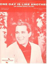 PERRY COMO-ONE DAY IS LIKE ANOTHER (UN GIORNO DOPO L'ALTRO) SHEET MUSIC-1966-NEW