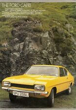 Ford Capri Mk1 1972-73 UK Market Foldout Sales Brochure L XL GT GXL