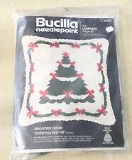 "Bucilla Needlepoint The Complete Pillow Kit Christmas Tree 14"""