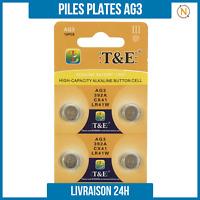 Piles Plate bouton 1,5V Alcaline AG3 0% Mercure