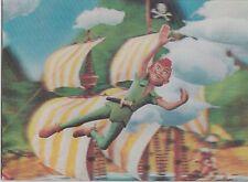 3D 3 D lenticular postcard PETER PAN flying 1960s Disney unused vintage WC Jones