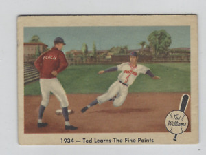 1959 Fleer Ted Williams #4 1934-TED Learns Il Sottile Punti Bello Scheda