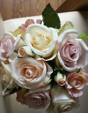 Artificial beautiful Rose bunch.Vintage Pink And Cream.19cmx23cm.Tied posy