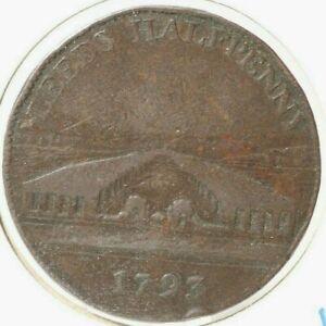Conder Token - 1793 Leeds 1/2 Penny - Woolen Manufactory - Lot # 151