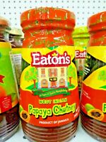 Eaton's Papaya Chutney 12 OZ Real Jamaican, Delicious