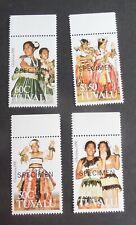 Tuvalu 1991 Christmas SG617/20 SPECIMEN MNH UM unmounted mint