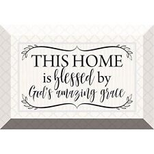 "NEW Dexsa This Home Is Blessed 6 x 4"" Glass Plaque with Easel DX6979"