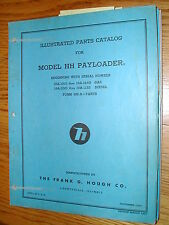 Hough HH-A PARTS MANUAL BOOK CATALOG WHEEL PAYLOADER GUIDE LIST International