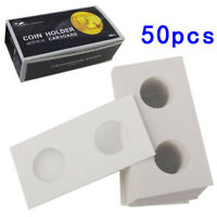 50X 2x2 Paper Cardboard Coin Holder Clips For Coins  40mm Hole workmanship
