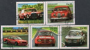 601 - Paraguay 1987 - Cars - Racing Cars - Used Set