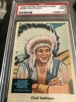 1959 Fleer Indian Trading Cards Chief Halftown #40 PSA 9
