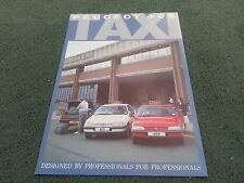 1988 1989 Peugeot 405 GLD SALOON TAXI - UK COLOUR FOLDER BROCHURE