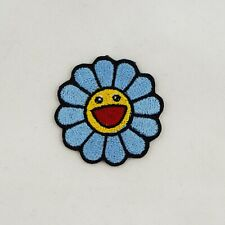 More details for iron on patch - takashi murakami blue embroidered patch