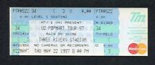 Original 1997 U2 Concert Ticket Stub Popmart Tour Three River Stadium Pittsburgh
