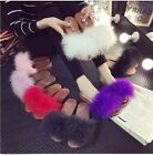 Hot Autumn Winter Women Fluzzy Plushed ostrich Fur Slippers Slides Mules Sandals