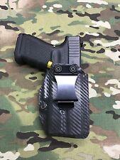 Armor Gray Carbon Fiber Kydex AIWB Holster for Glock 19 23 RMR Cut Surefire XC1