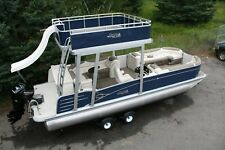 Stay safe--New-2585 Funship pontoon boat with 115 Trailer
