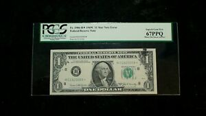1969C ONE DOLLAR PCGS SUPERB GEM 67 PPQ ST. LOUIS INK SMEAR ERROR Note $1 Bill!