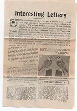 1910 Advertising Flier Testimonial w/ Photos Northwestern School of Taxidermy