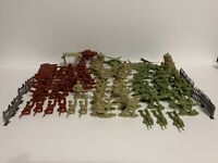 Lot Of 80+ Army Men 3 Different Colors And Vehicles
