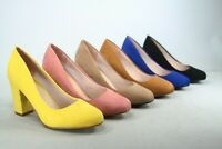 NEW Women's 2 Styles Round Toe  Wedge Chunky Heel Sandal Dress Shoes Size 5 - 10