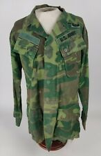 Vietnam Us Army Ranger Tropical Coat Jungle Jacket Slant Pocket Camo Named 1969