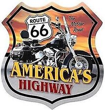 Route 66 America's Highway Shield steel sign   380mm x 380mm  (pst)