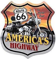 Ruta 66 autopista Escudo Acero Signo De America's 380 Mm x 380 mm (PST)