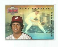 RYNE SANDBERG (Chicago Cubs) 1992 UPPER DECK THEN AND NOW HOLO CARD #TN6