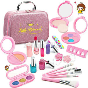 Kids Pretend Fake Make Up Set for Girl Play Kit For Children With Cosmetic Box