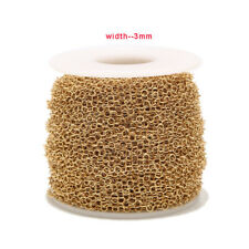2meters Handmade Round Connect Chain Gold Stainless Steel DIY Chain Findings