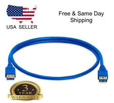Premium Quality Blue 3Ft 3Feet USB 3.0 A Male to Female Extension Cable