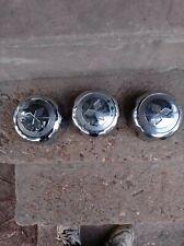 4X Center Caps Hubcaps Chrome Black MB816581 For Mitsubishi Montero 1999-2004