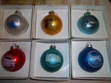 6 Howe House Historical Vintage Christmas Ornaments 1989-1994 -Belton, Missouri