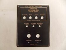 "A.C. POWER CONTROL PANEL BLACK / GOLD 7"" X 5 1/2"" MARINE BOAT"