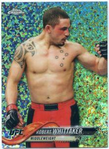 2018 Topps UFC Chrome ROBERT WHITTAKER Diamond Hot Box Refractor Card No 34