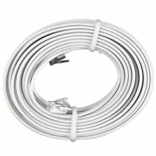 50 FT Feet RJ11 4C Modular Telephone Extension Phone Cord Cable Line Wire White