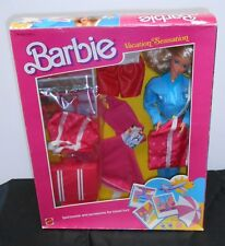 "BARBIE VACATION SENSATION, SPORTSWEAR & ACCESSORIES FOR TRAVEL FUN!  ""1986"" MIB!"